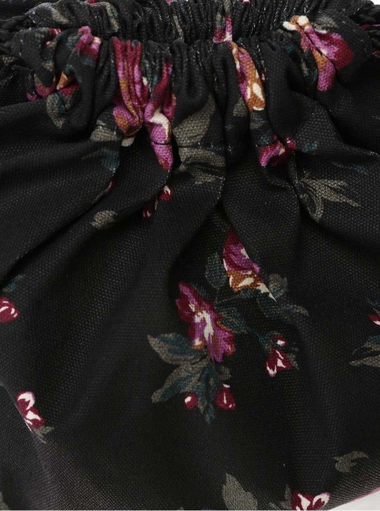 Rucsac negru Vans Benched Novelty cu imprimeu floral
