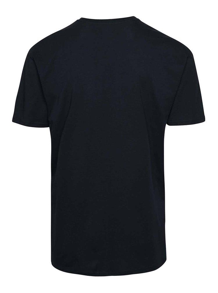 Tmavomodré pánske tričko s potlačou Vans Classic