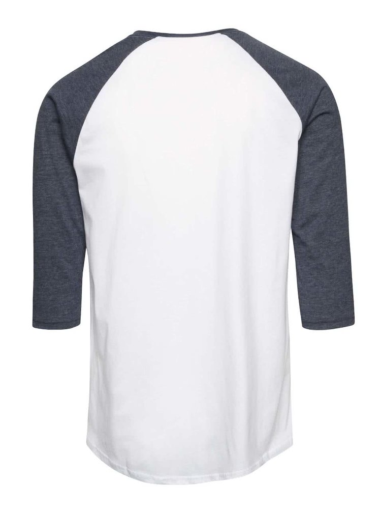 Sivo-biele pánske tričko s 3/4 rukávmi Vans Ragla