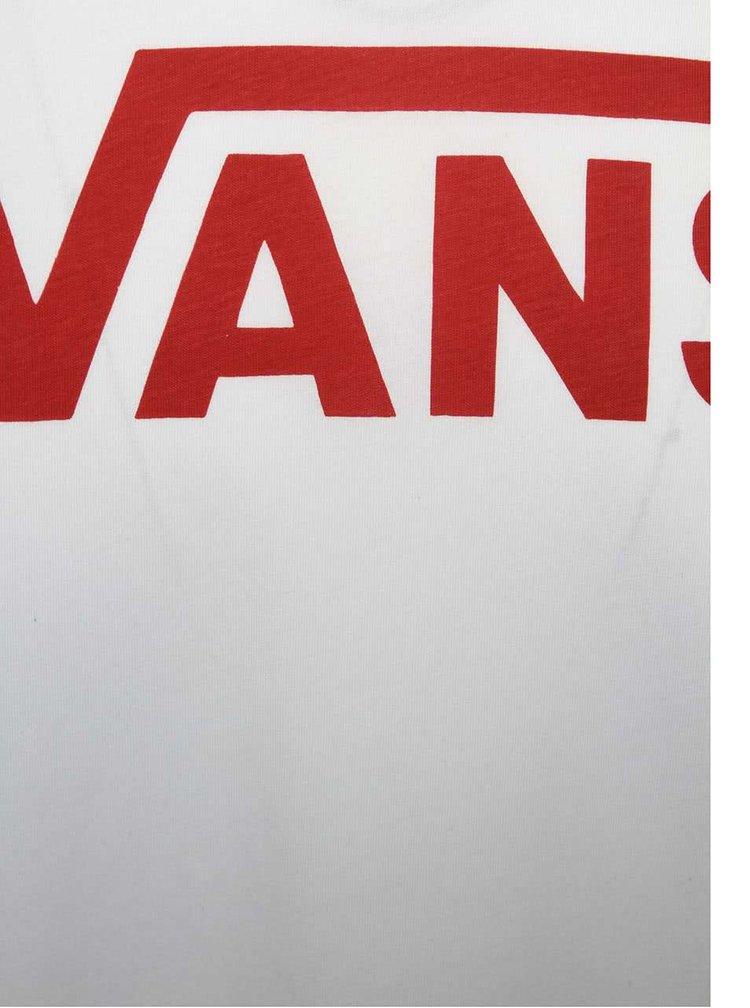 Šedo-bílé pánské triko s 3/4 rukávy Vans Ragla
