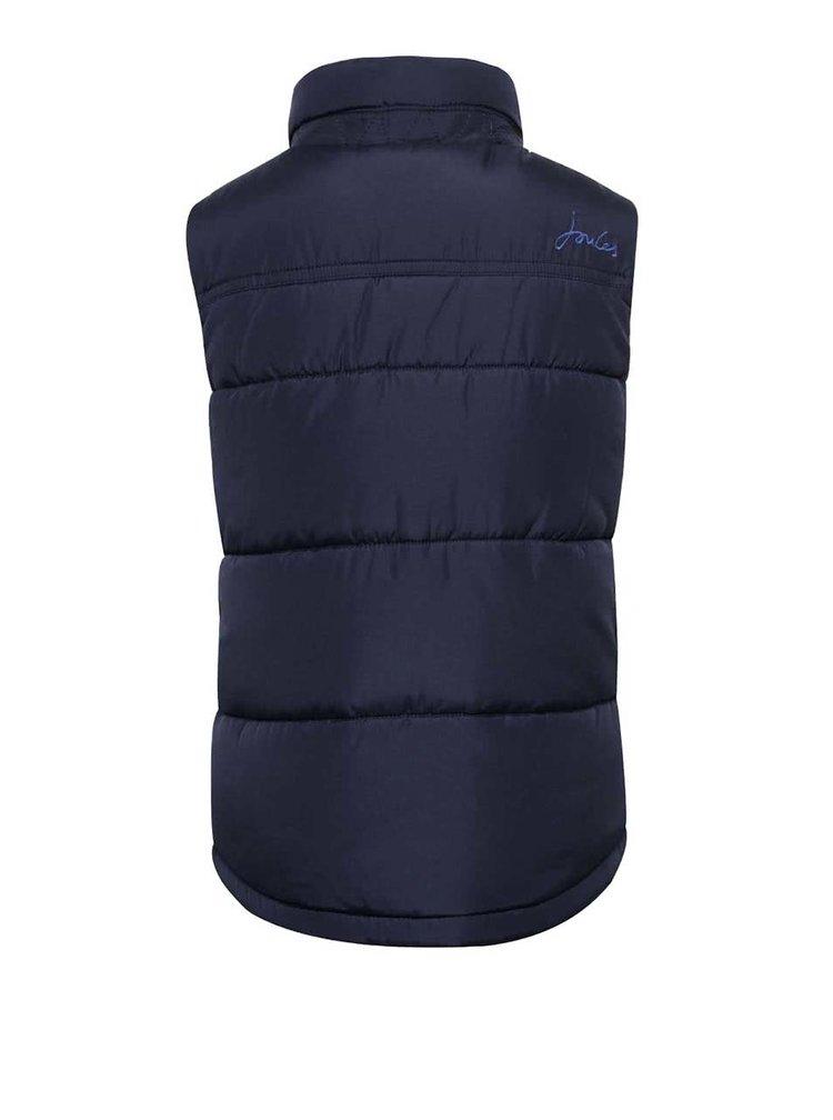 Tmavomodrá chlapčenská prešívaná vesta Tom Joule Matchday