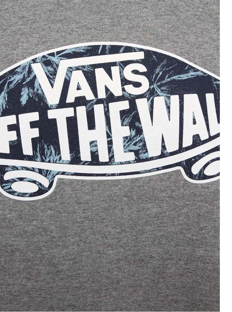 Bluza gri Vans Crew cu model discret