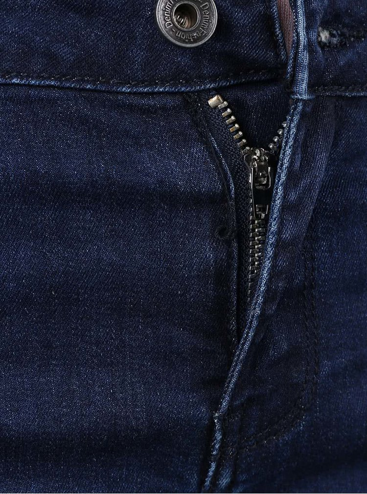 Tmavě modré džíny se zipy na nohavicích Madonna