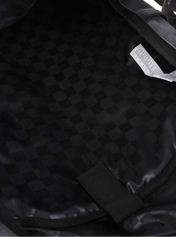 Zeleno-černý kostkovaný pánský batoh Vans Transient