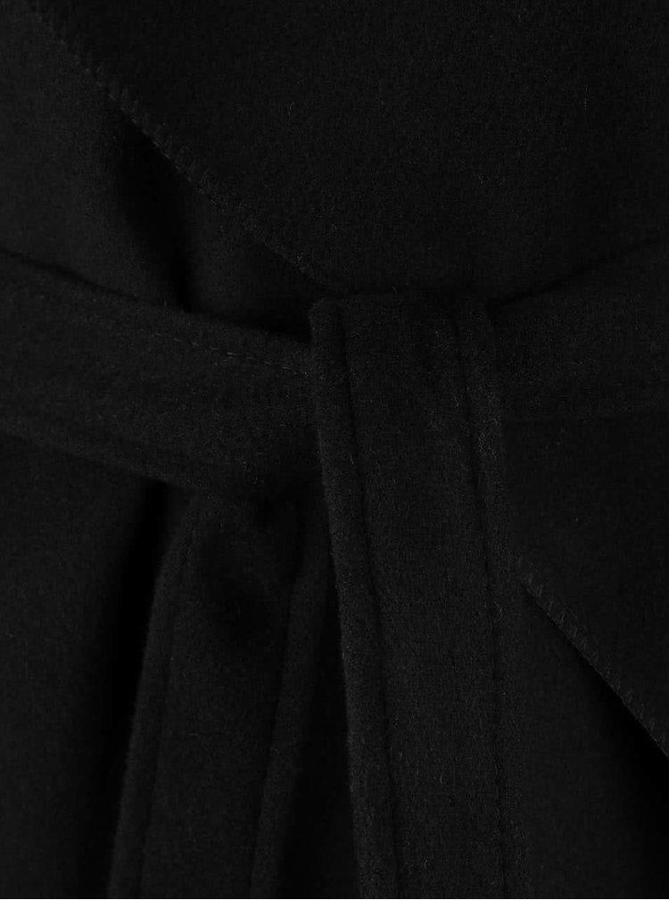 Černý flaušový kabát Madonna