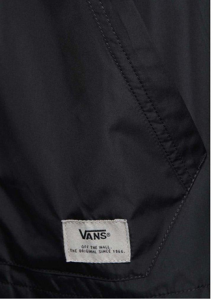 Tmavě šedá pánská bunda s kapucí VANS Woodberry