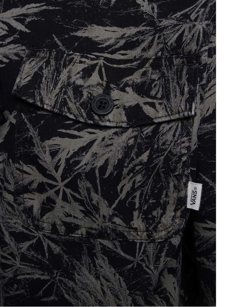Zeleno-černá pánská bunda s tropickým vzorem Vans Lismore