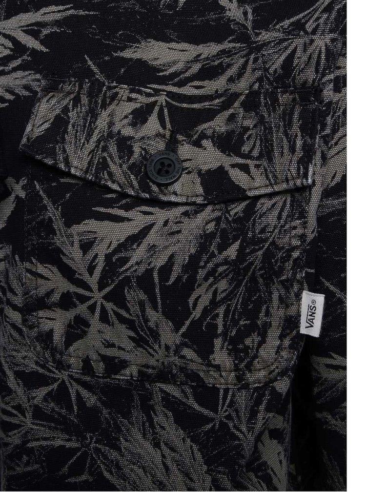 Zeleno-čierna pánska bunda s tropickým vzorom Vans Lismore