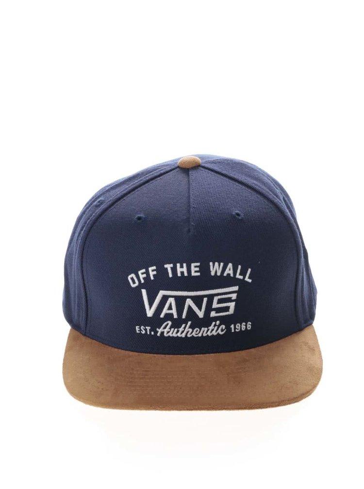 Hnědo-modrá pánská kšiltovka Vans Authentic