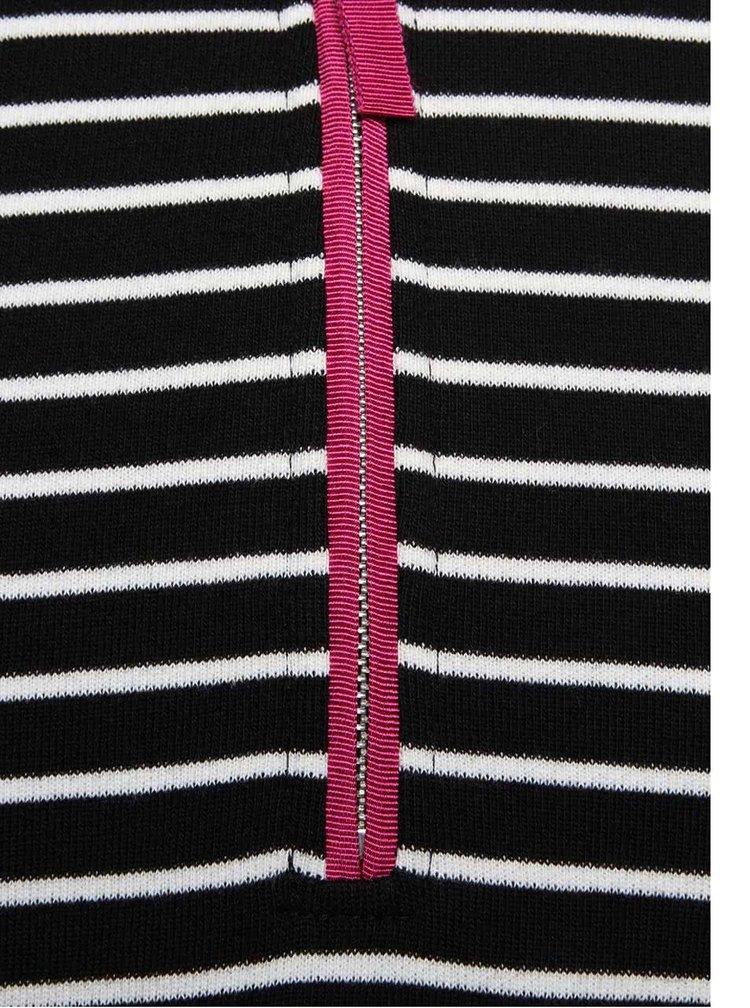 Krémovo-čierne pruhované šaty Tom Joule Daylia