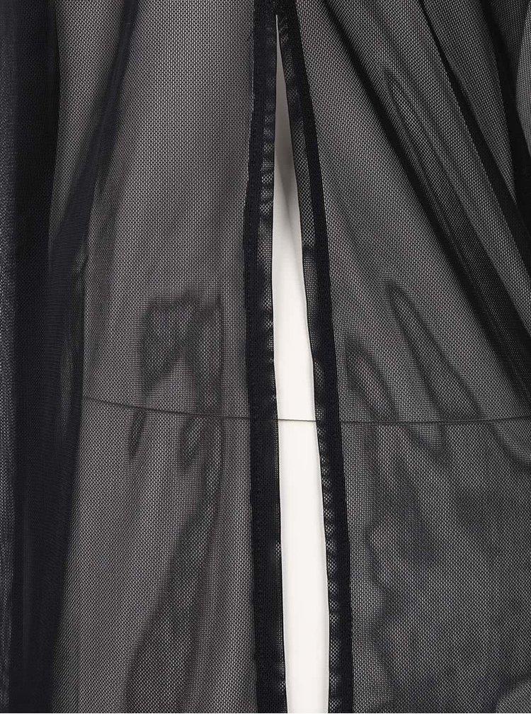 Čierny ľahký priesvitný top TALLY WEiJL