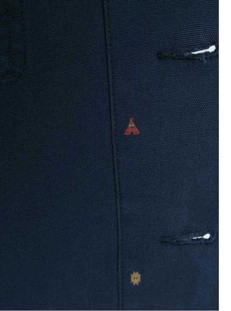 Modrá pánská vzorovaná bunda s kapucí Vans Lismore