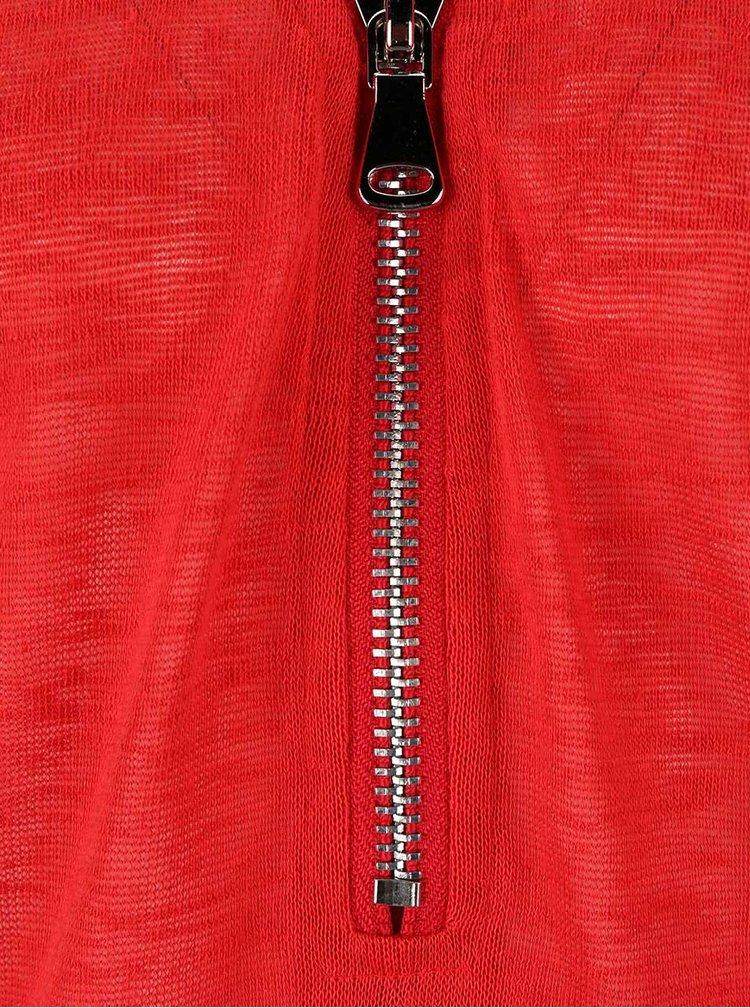 Červená halenka se zipem Madonna