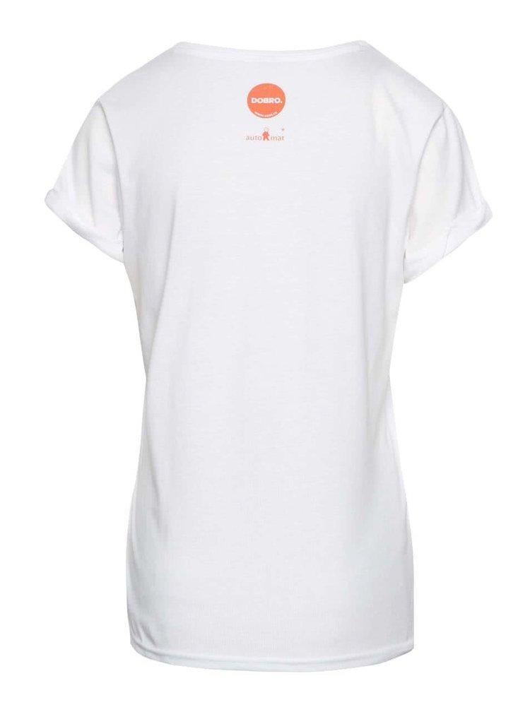 """""""Dobré"""" bílé dámské tričko pro Zažít město jinak"""