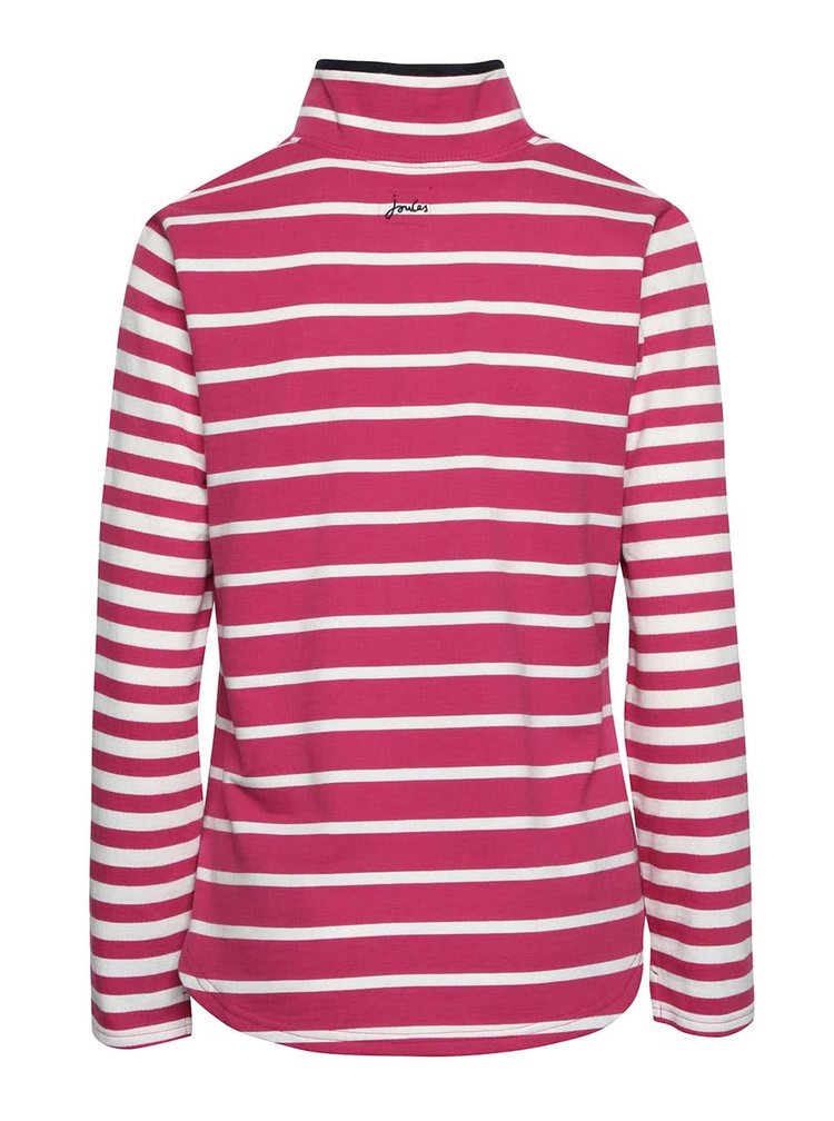 Bluza roz Tom Joule Fairdale cu guler inalt