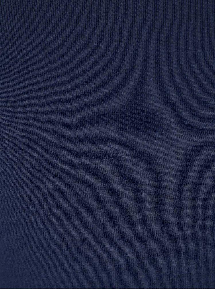 Tmavě modré tričko s véčkovým výstřihem Madonna