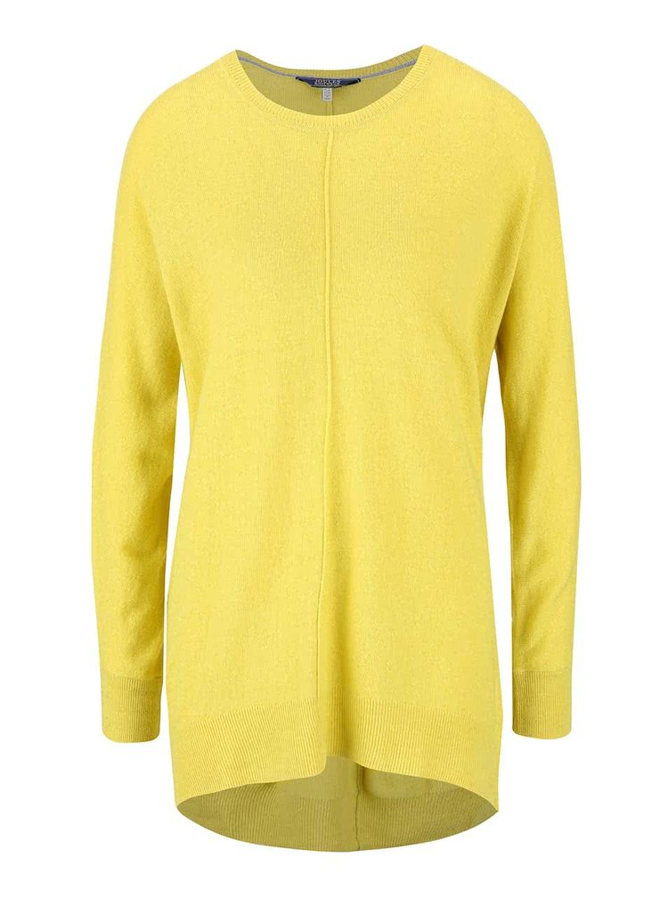 Žltý dámsky dlhý sveter Tom Joule Emma