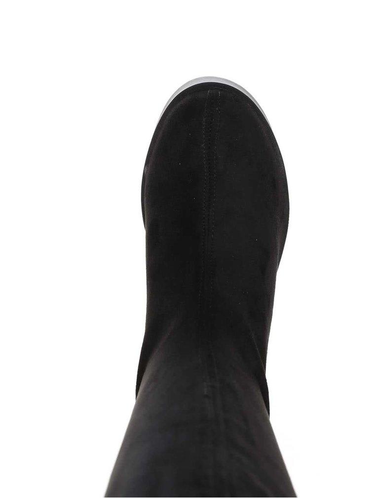 Cizme negre cu toc OJJU