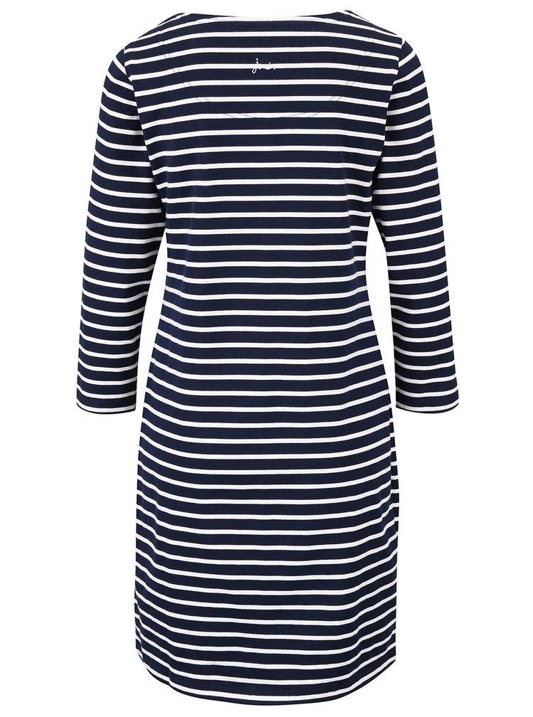 Tmavě modré dámské pruhované šaty s 3/4 rukávy Tom Joule Riviera