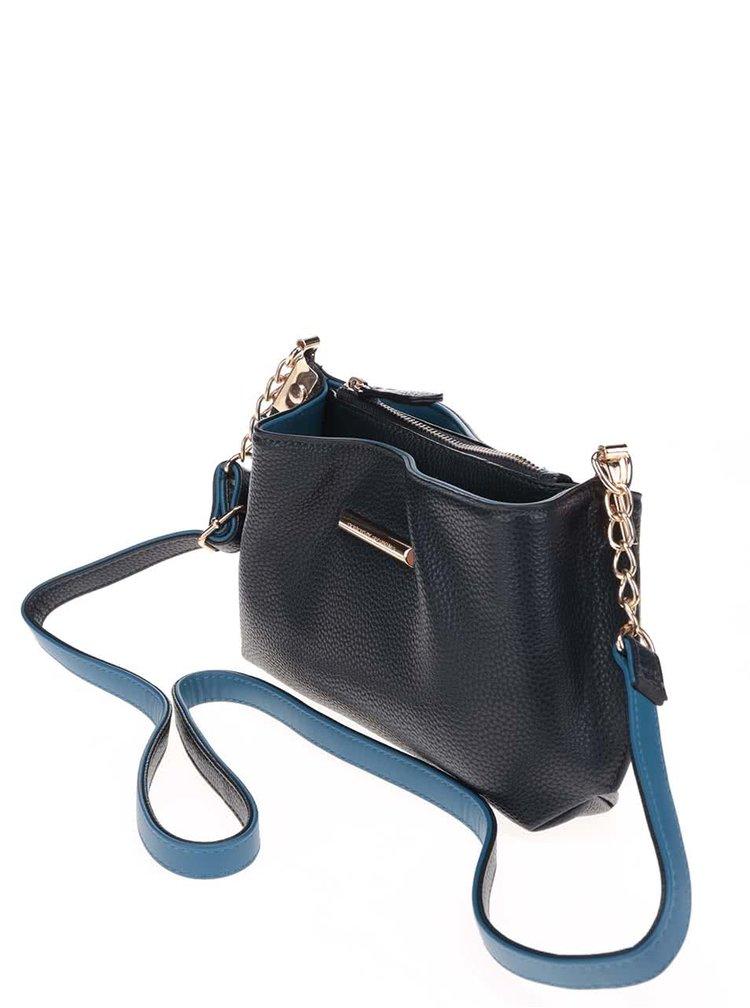 Tmavě modrá menší crossbody kabelka s řetízkem Dorothy Perkins