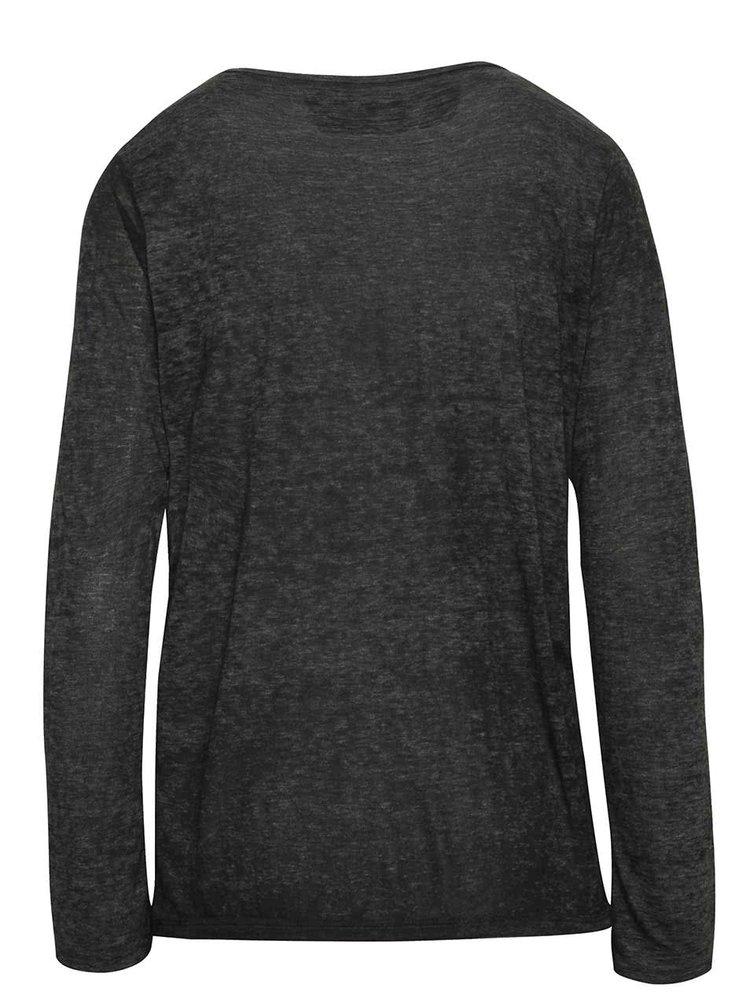 Tmavě šedé dámské tričko s potiskem Cars Days