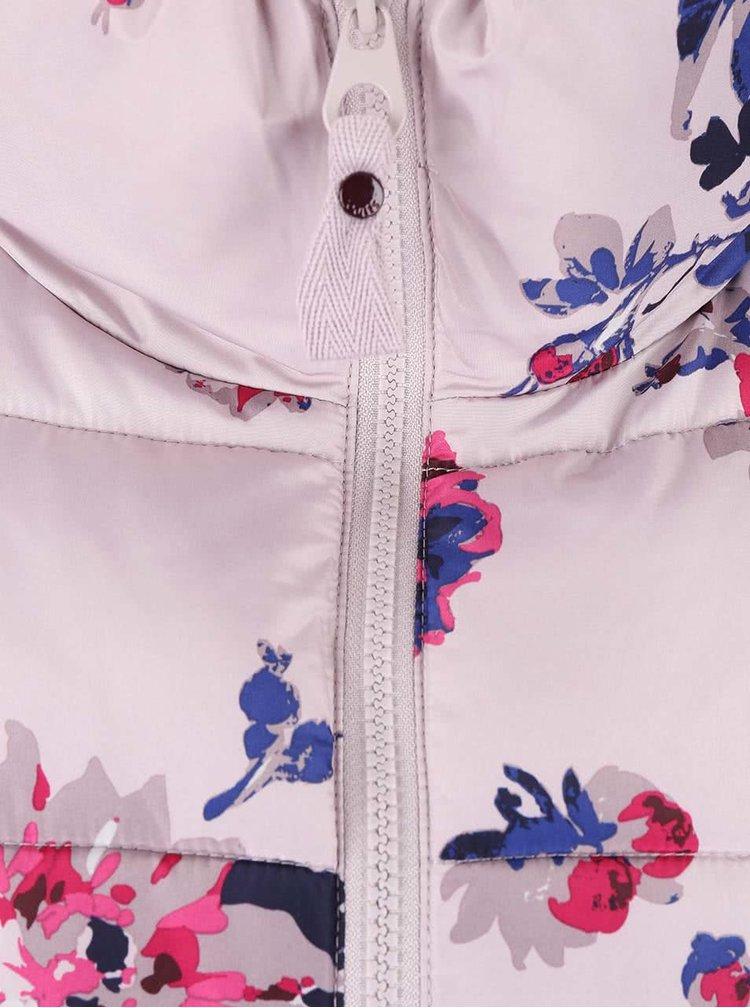 Ružovo-sivá dámska prešívaná bunda Tom Joule Florian
