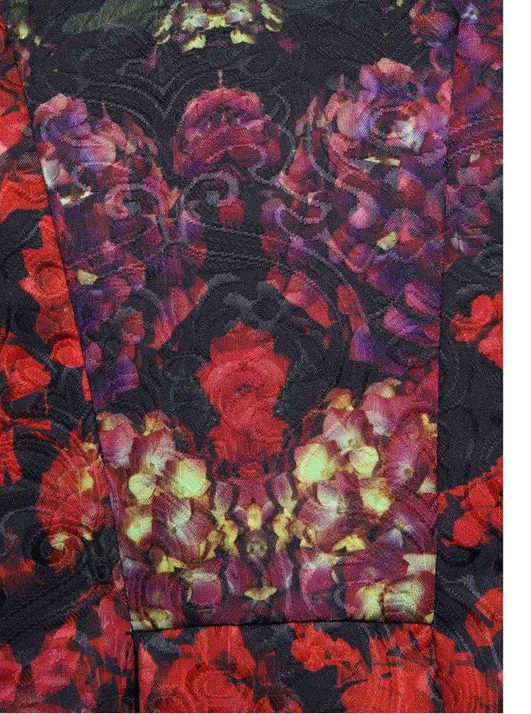 Černočervené vzorované šaty Wolf & Whistle