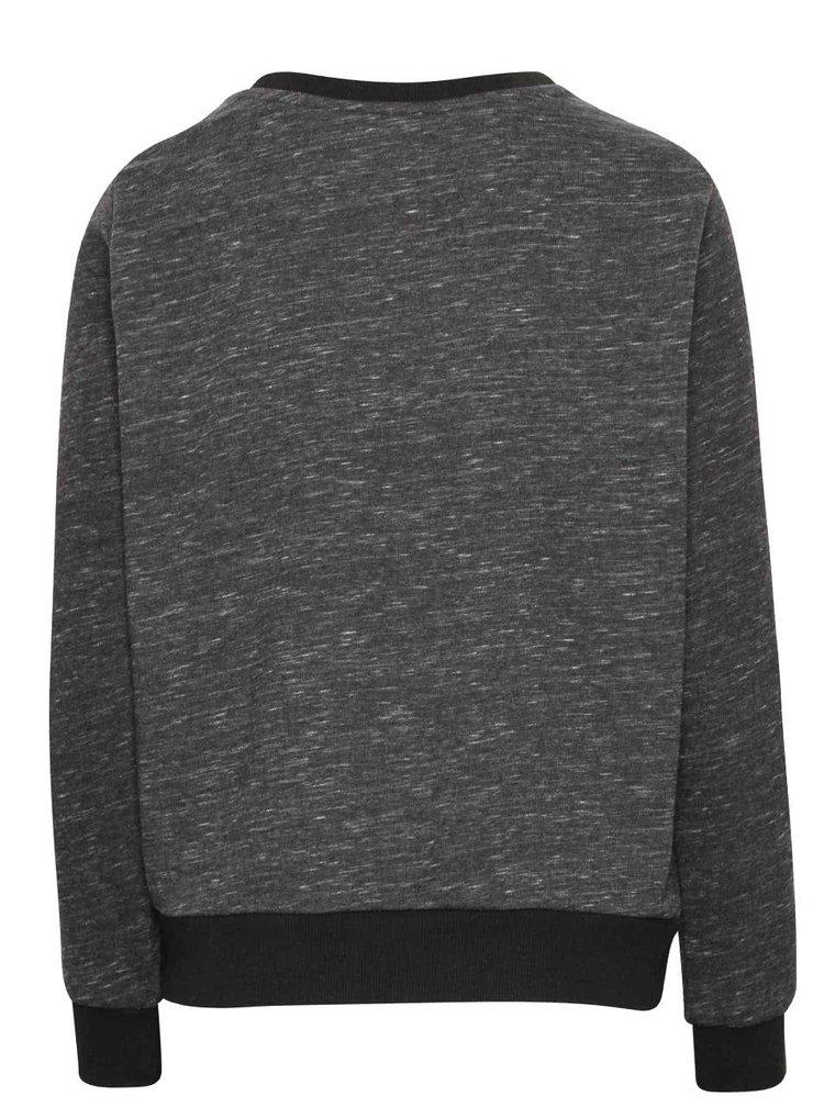 Bluză sport gri închis adidas Originals Trefoil