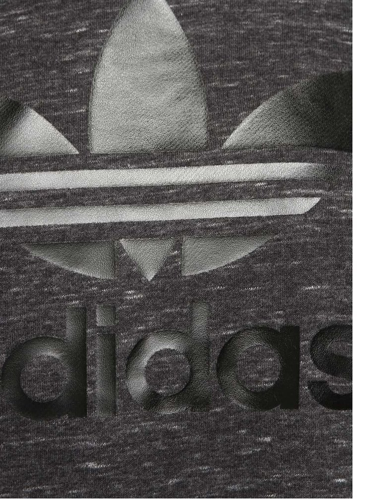 Sivá dámska melírovaná mikina adidas Originals Trefoil