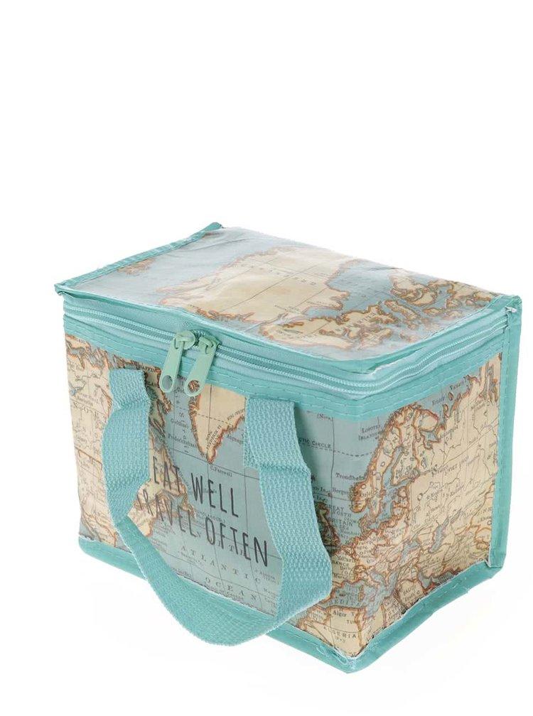 Cutie termoizolantă pentru prânz Sass & Belle Vintage Map cu model hartă