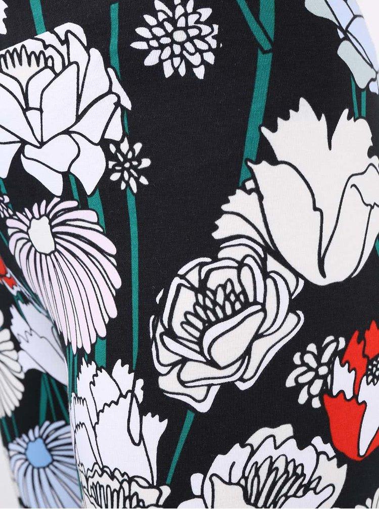 Colanti cu imprimeu floral adidas Originals Linear