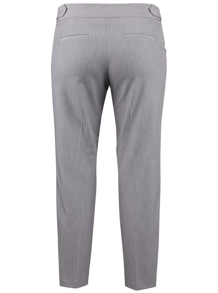 Šedé zkrácené formální kalhoty Dorothy Perkins