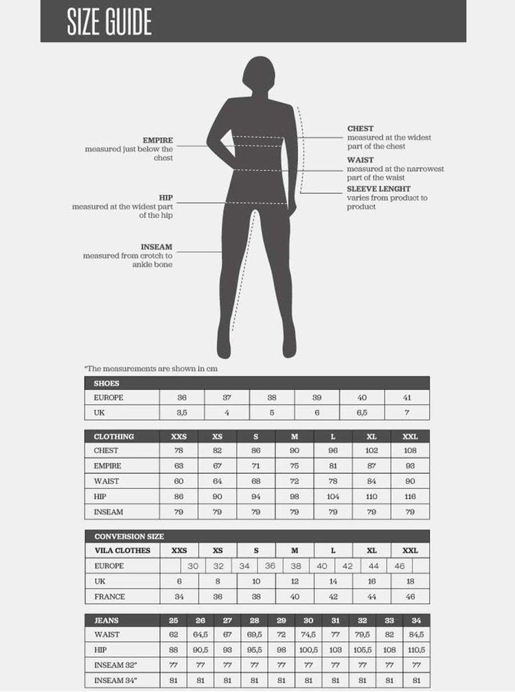 Tmavosivá menčestrová prepínacia sukňa VILA