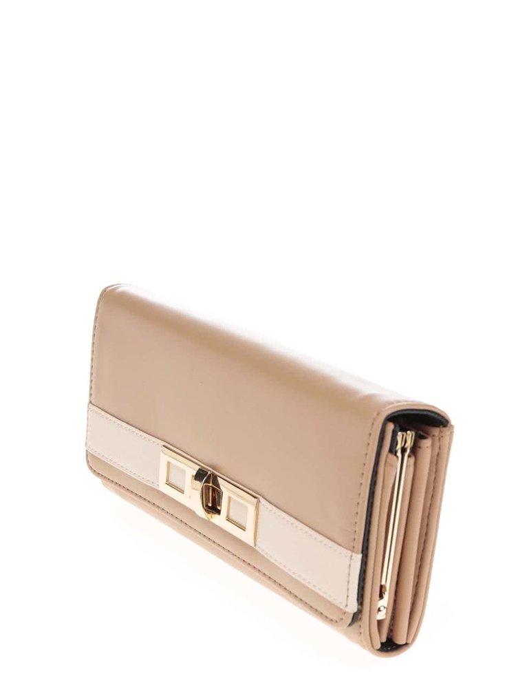 Béžová peňaženka Dorothy Perkins