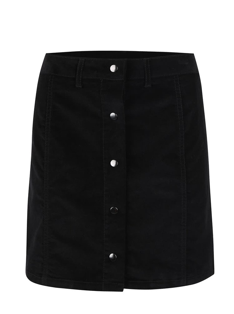 Čierna menčestrová prepínacia sukňa VILA