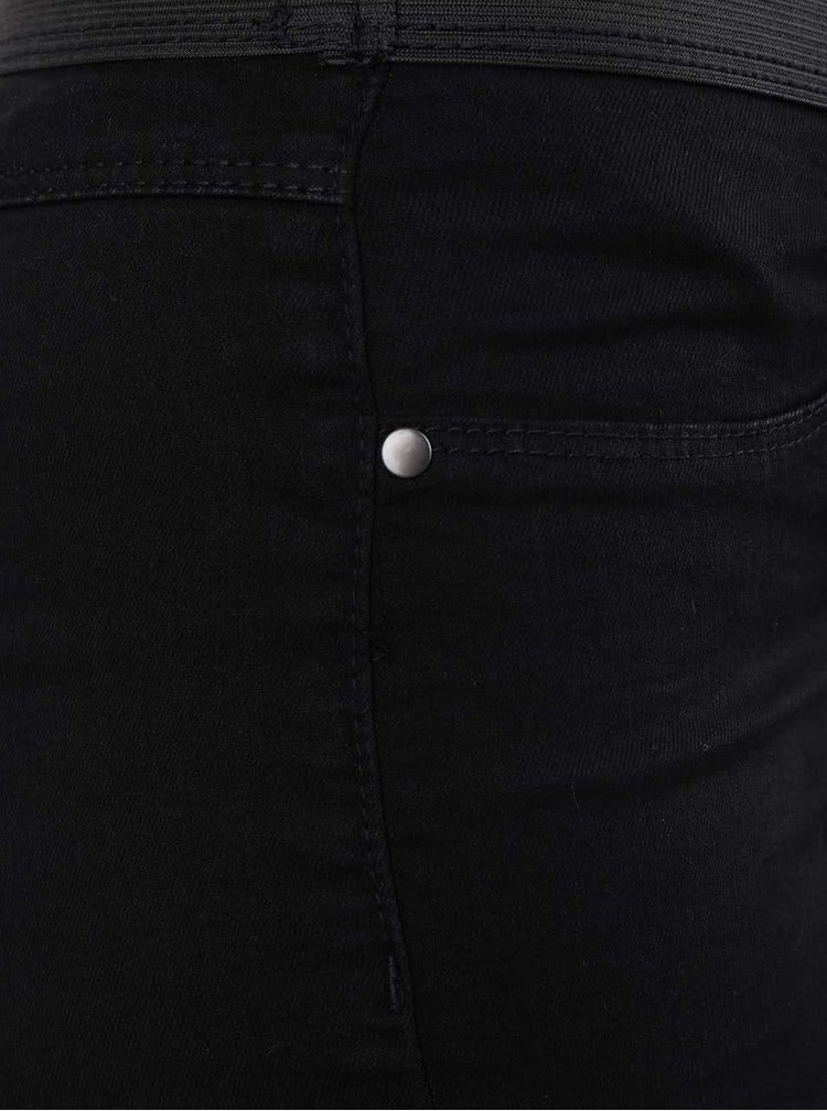 Čierne jeggins s výraznou gumou v páse Dorothy Perkins
