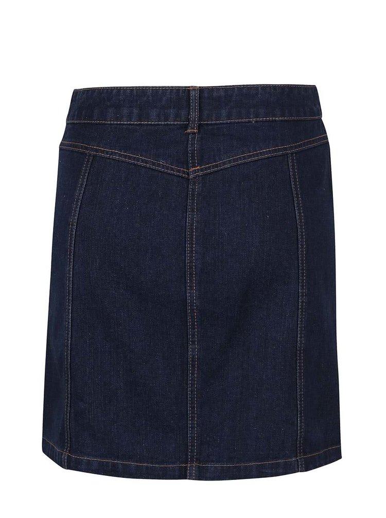 Tmavě modrá džínová propínací sukně Dorothy Perkins