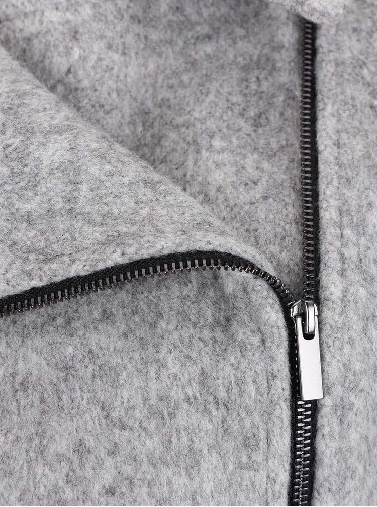 Svetlosivý melírovaný krátky kabát VILA