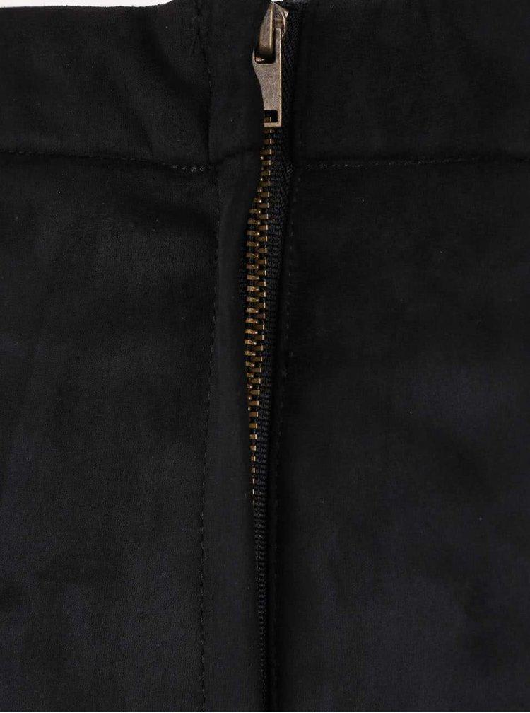 Čierna sukňa v semišovej úprave so šnurovaním Dorothy Perkins