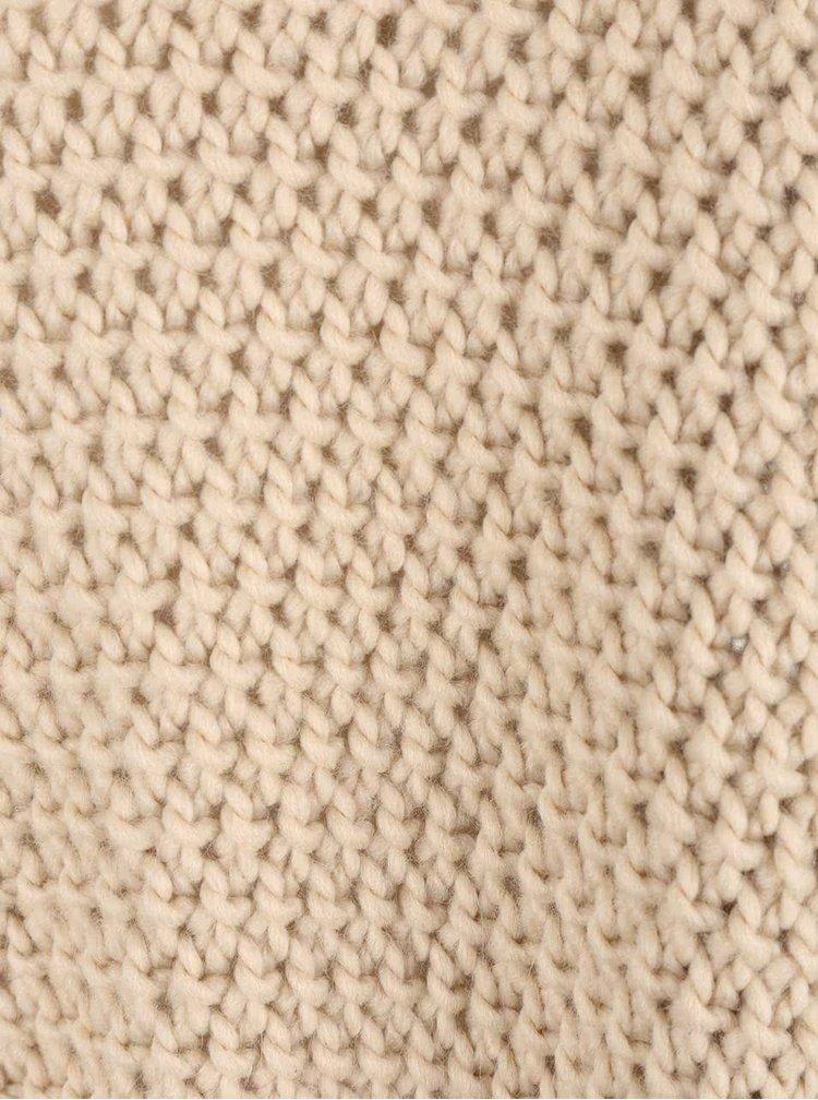 Krémové pletené pončo VILA