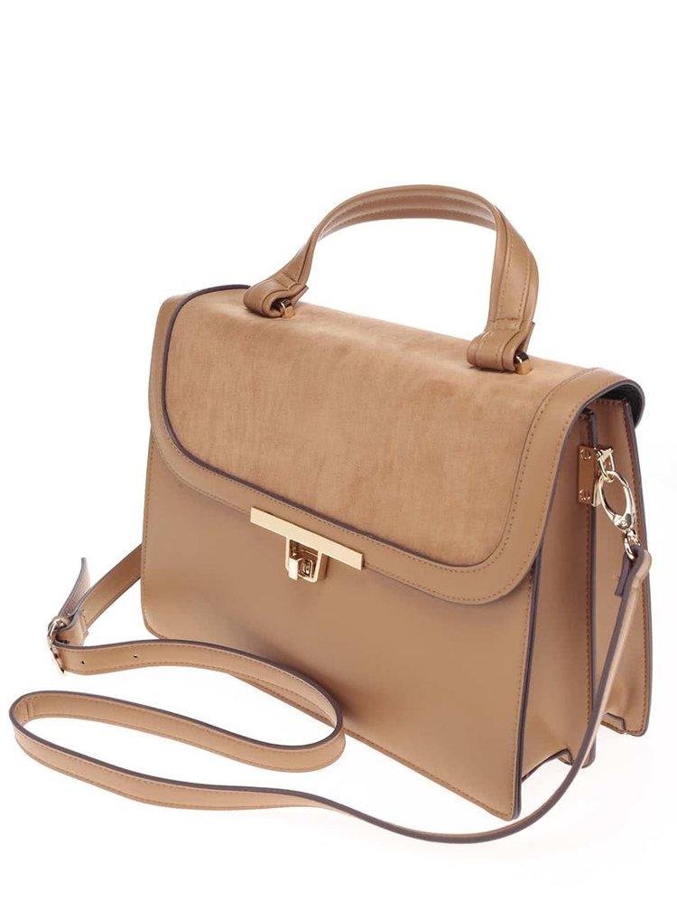 Béžová kabelka s popruhom Dorothy Perkins