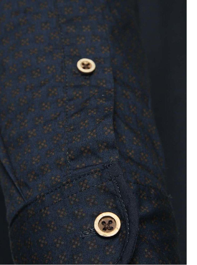 Tmavě modrá vzorovaná košile !Solid Edgen