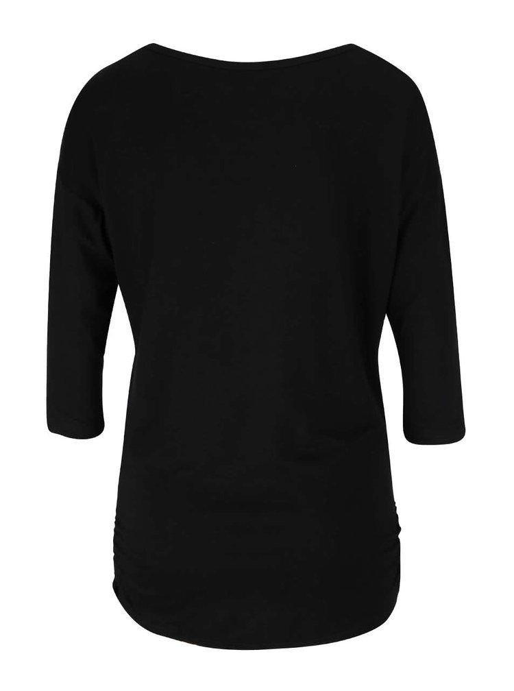 Černé tričko s potiskem Madonna