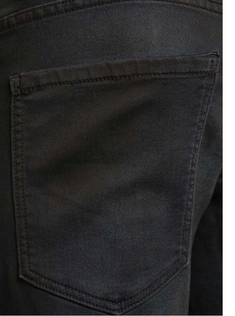 Tmavě modré vyšisované slim džíny !Solid Joy Stretch