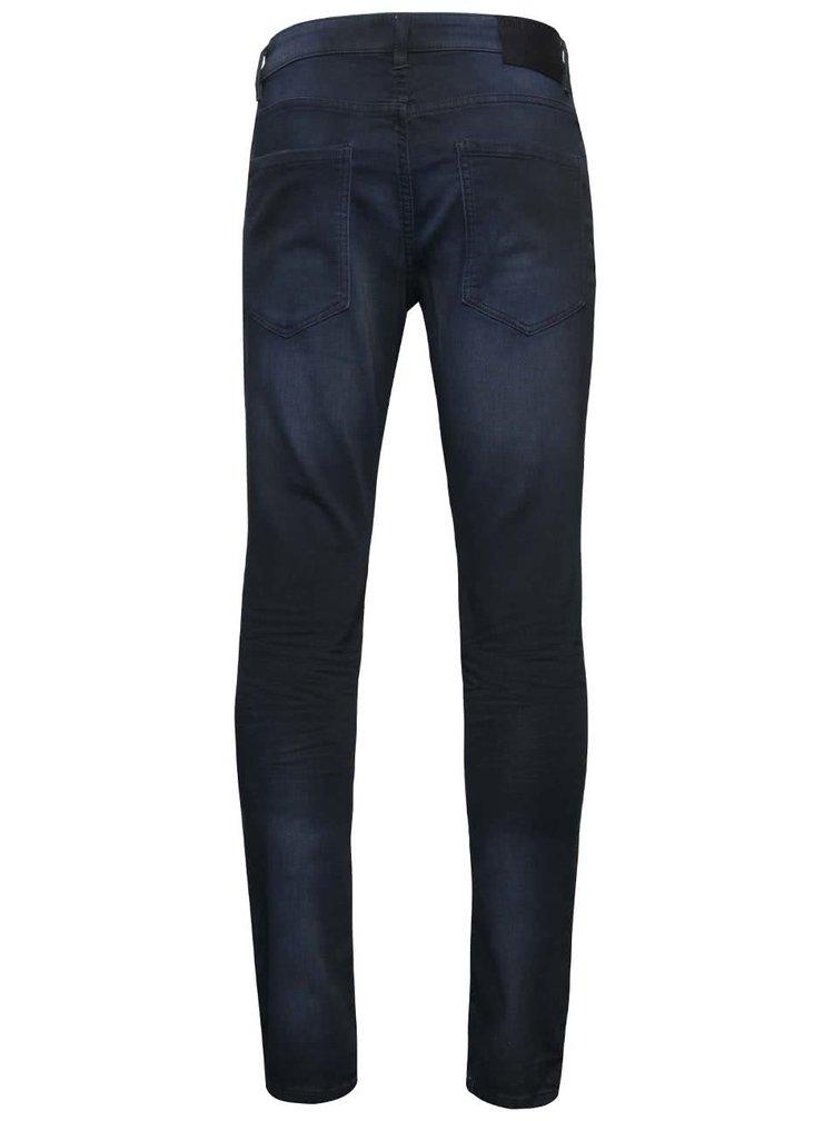Tmavě modré vyšisované skinny džíny !Solid Dexter