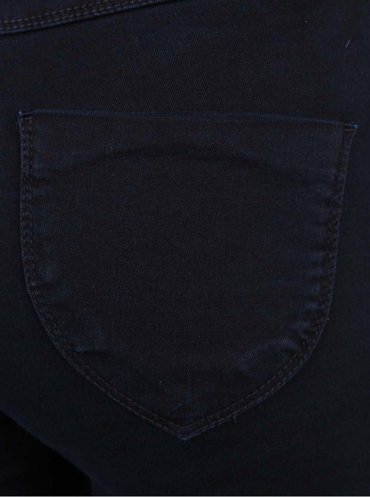 Tmavě modré skinny jeggins s vyšším pasem Dorothy Perkins