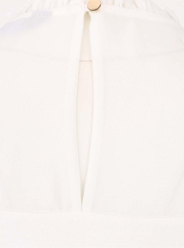 Krémová blúzka s priesvitnými rukávmi Dorothy Perkins