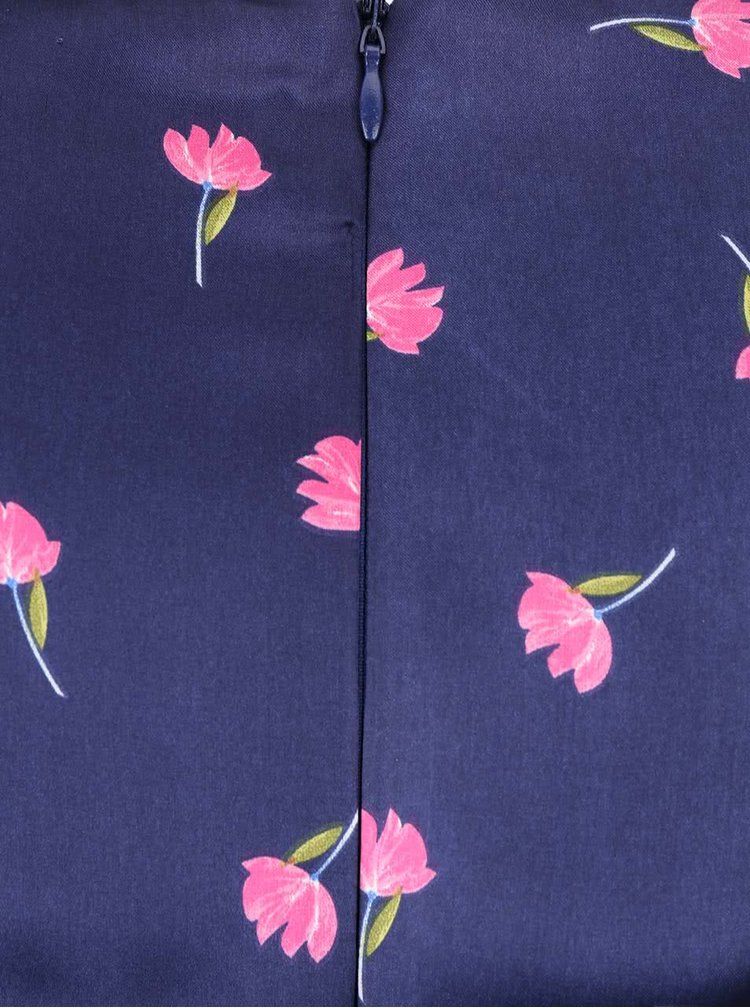 Rochie albastra Dorothy Perkins Petite cu imprimeu