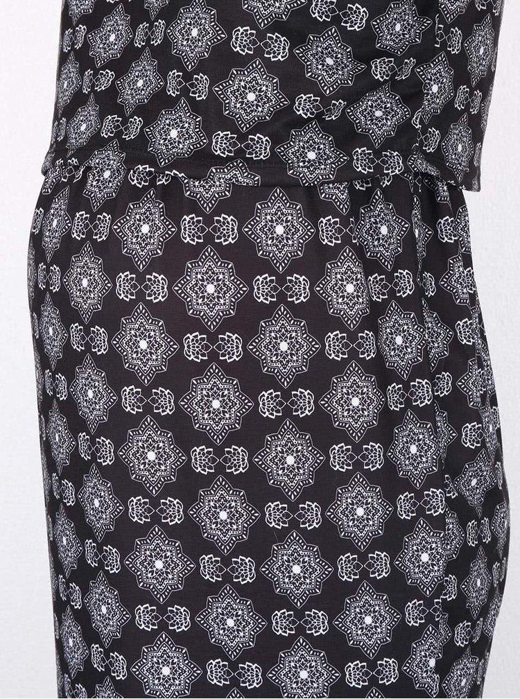 Čierne vzorované tehotenské šaty Dorothy Perkins Maternity