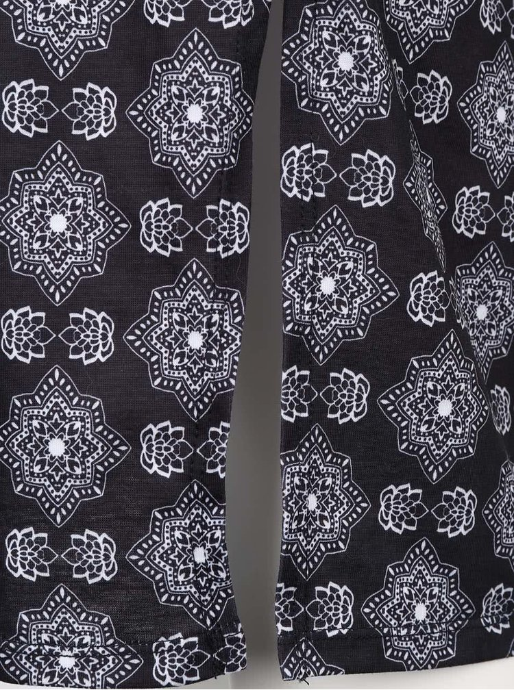 Černé vzorované těhotenské šaty Dorothy Perkins Maternity